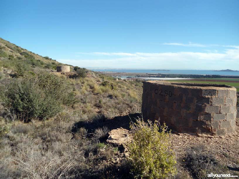 El Cabezo de San Ginés, pozos mineros, espacios del Mar Menor
