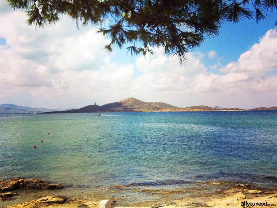 Isla del Barón en el Mar Menor. Foto de Irene
