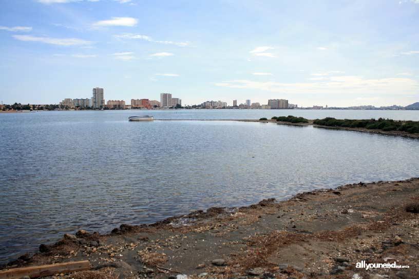 Isla del Ciervo en el Mar Menor. Vistas desde la isla