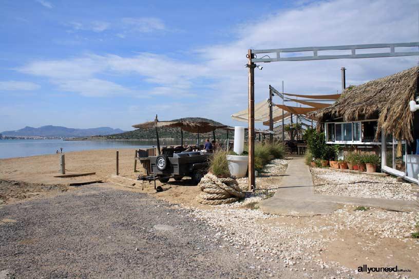 Isla del Ciervo en el Mar Menor. Comienzo sendero