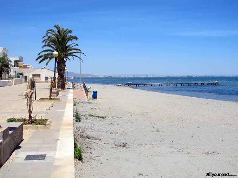 Playa Los Urrutias. Playas del Mar Menor