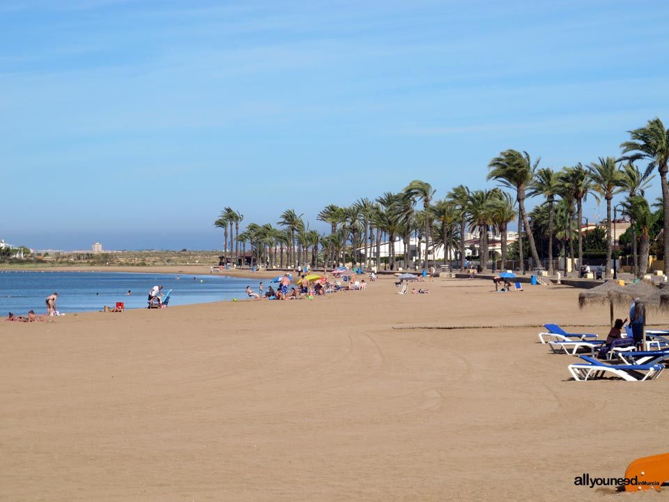 Beaches in Murcia. Mar de Cristal Beach in Mar Menor