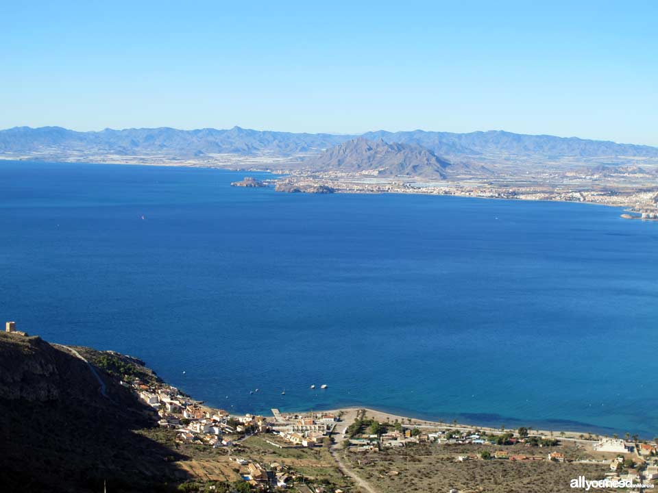 Tiñoso Cape. Views of Bay of Mazarrón