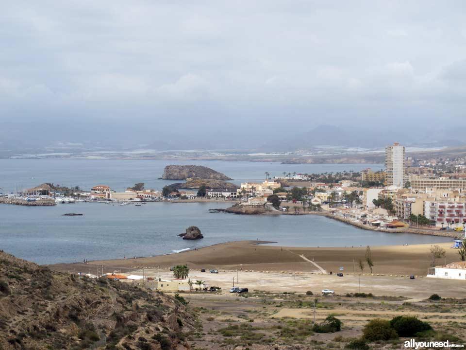 Sagrado Corazón de Jesús. Vista del Puerto de Mazarrón