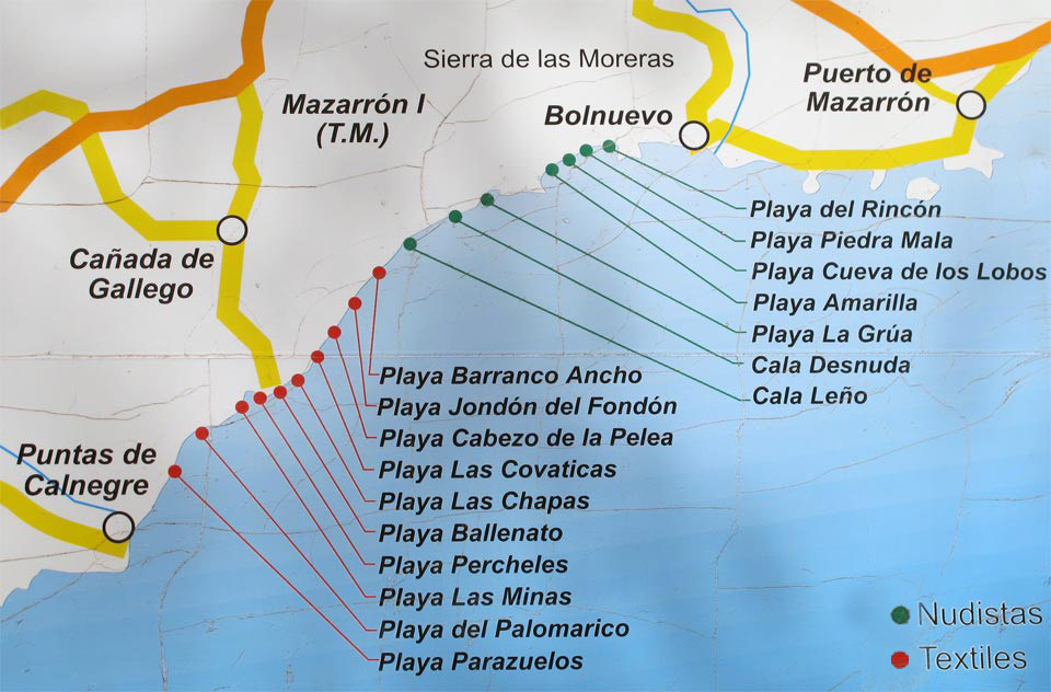 Beaches in Mazarrón. Beaches in a natural setting
