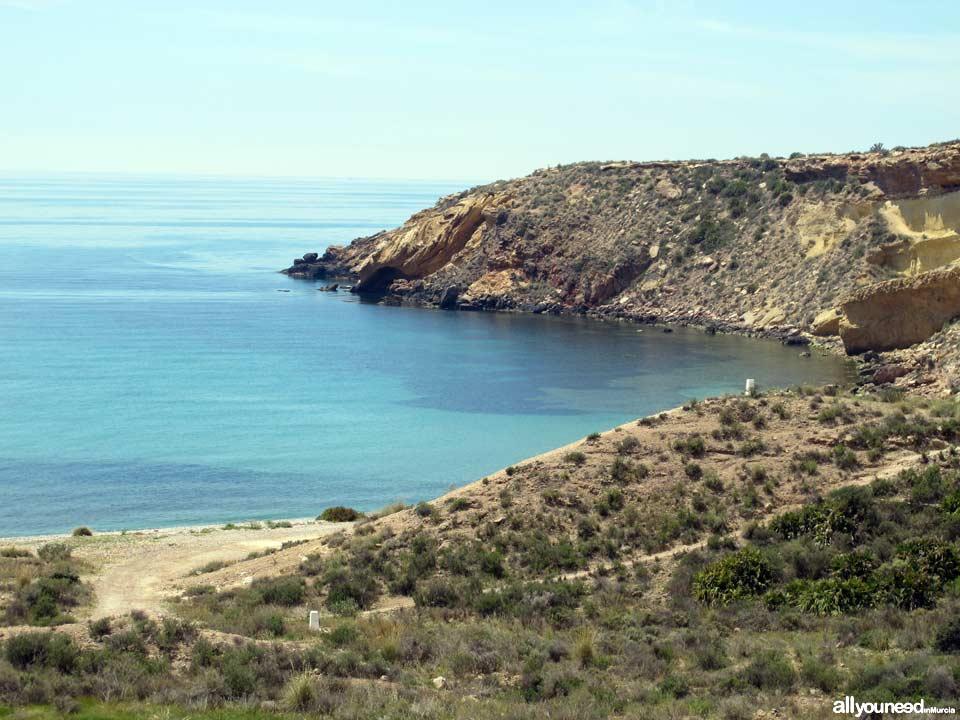 Beaches in Mazarrón. Amarilla Beach
