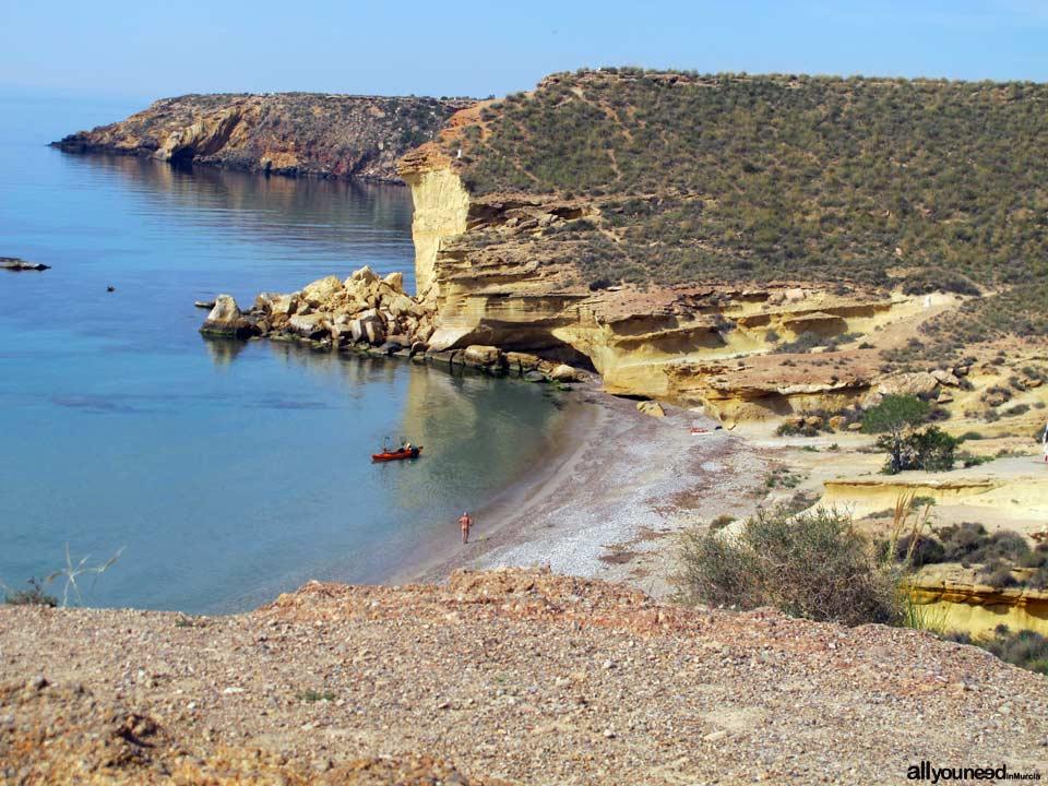 Playas de Mazarrón. Cala de Cueva de Lobos