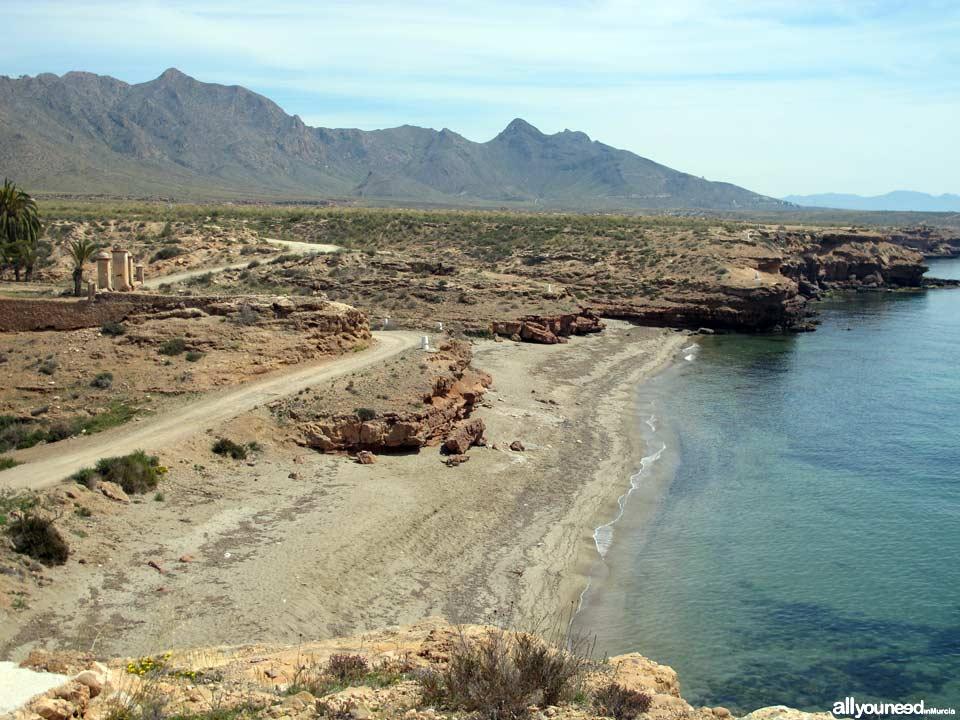 Beaches in Mazarrón. Jondón del Fondón Beach