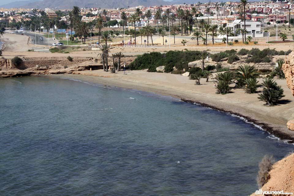 Beaches in Mazarrón. Negra Beach
