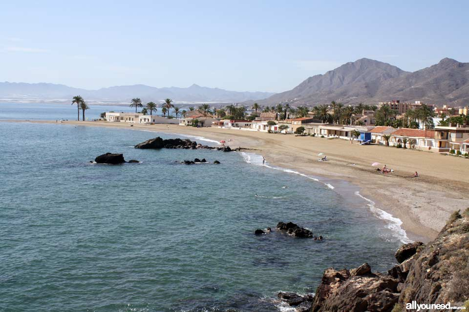 Beaches in Mazarrón. Nares Beach