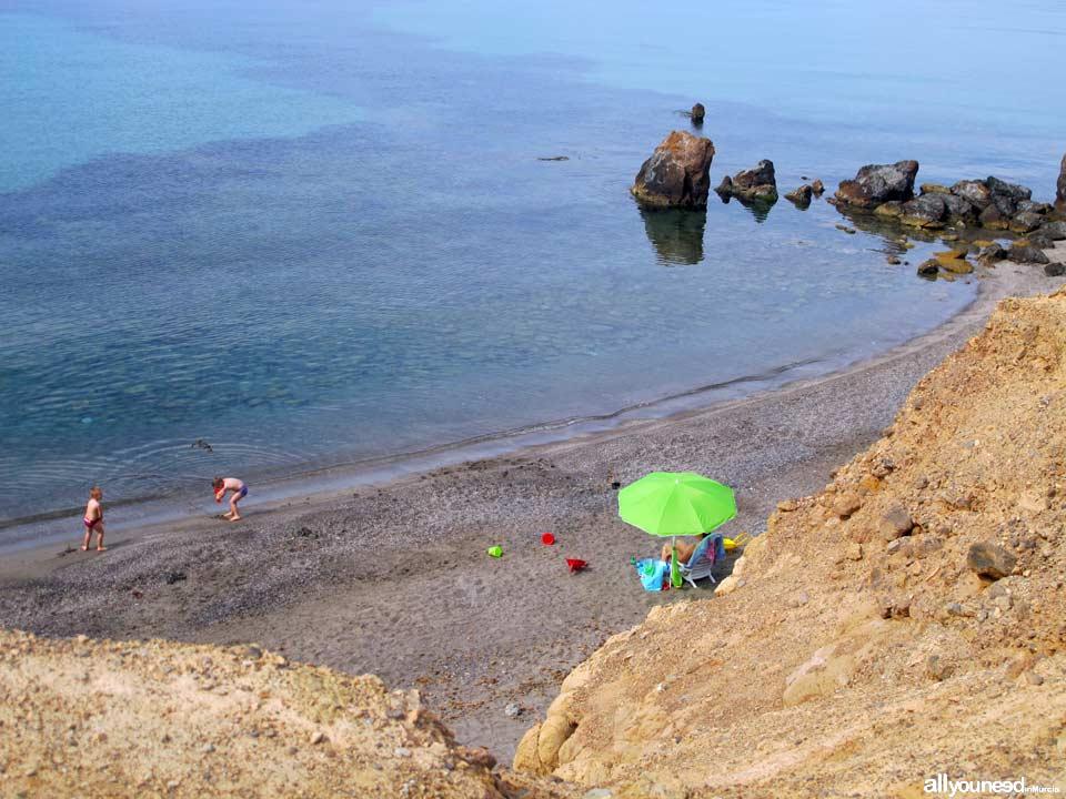 Piedra Mala beach. Beaches in Mazarrón
