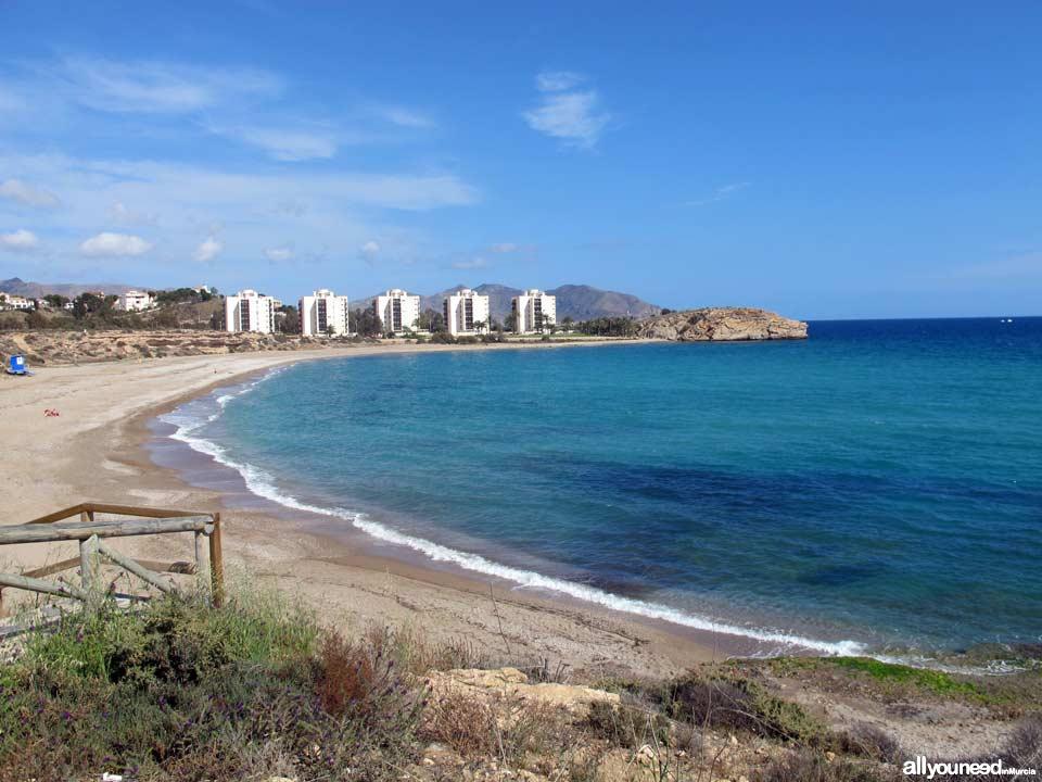 Beaches in Mazarrón. Mojón Beach