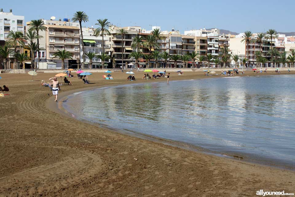 Beaches in Murcia. Beach in Puerto de Mazarrón