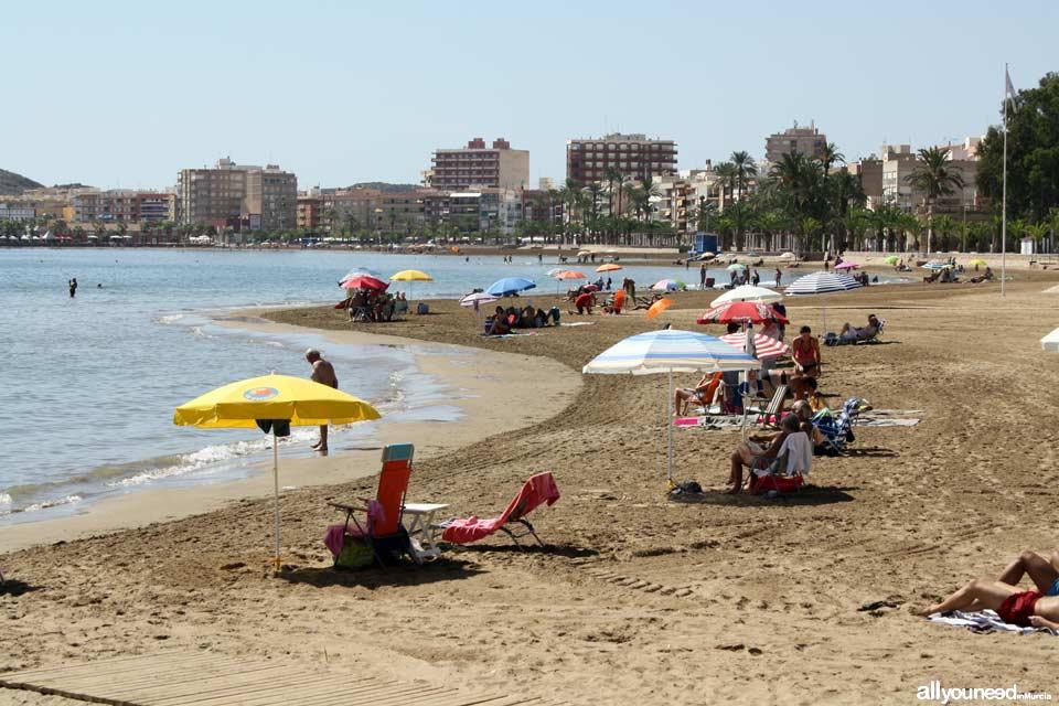 Beaches in Mazarrón. Rihuete Beach