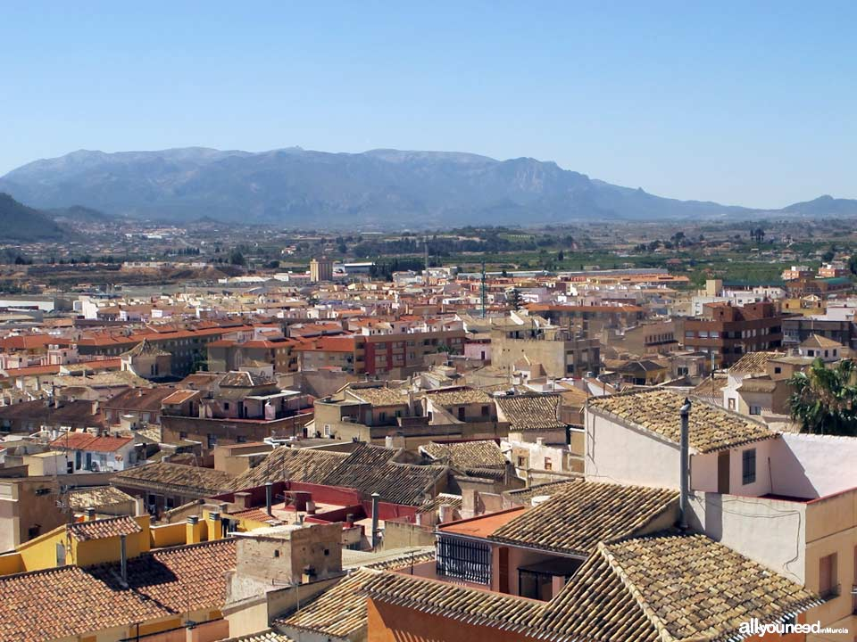 Panoramic views of Mula from Vélez castle