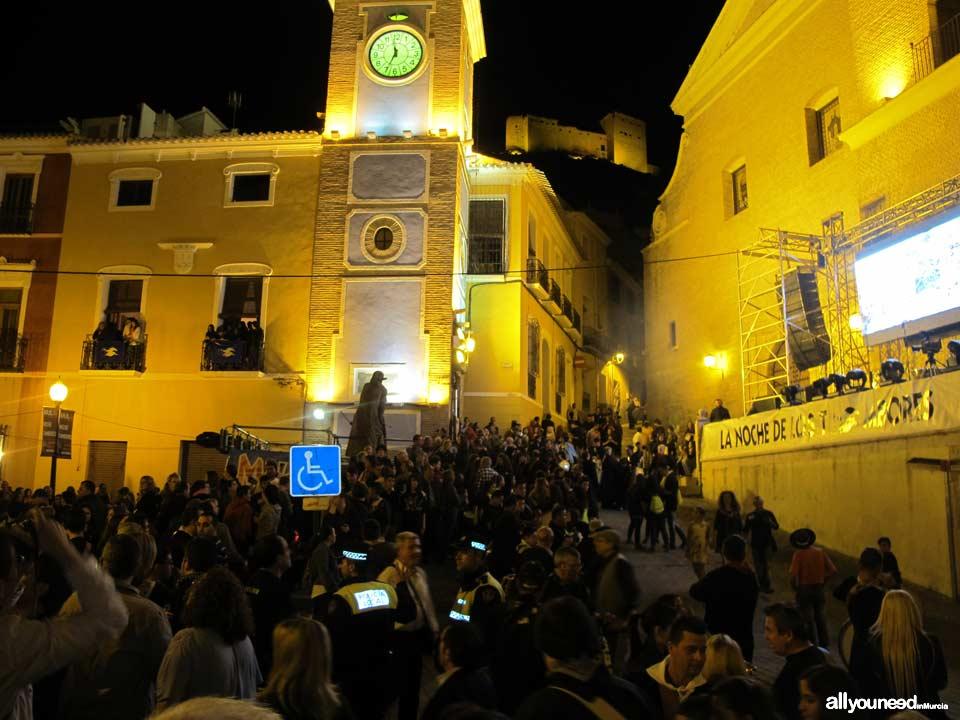 Plaza del Ayuntamiento. Noche de los tambores