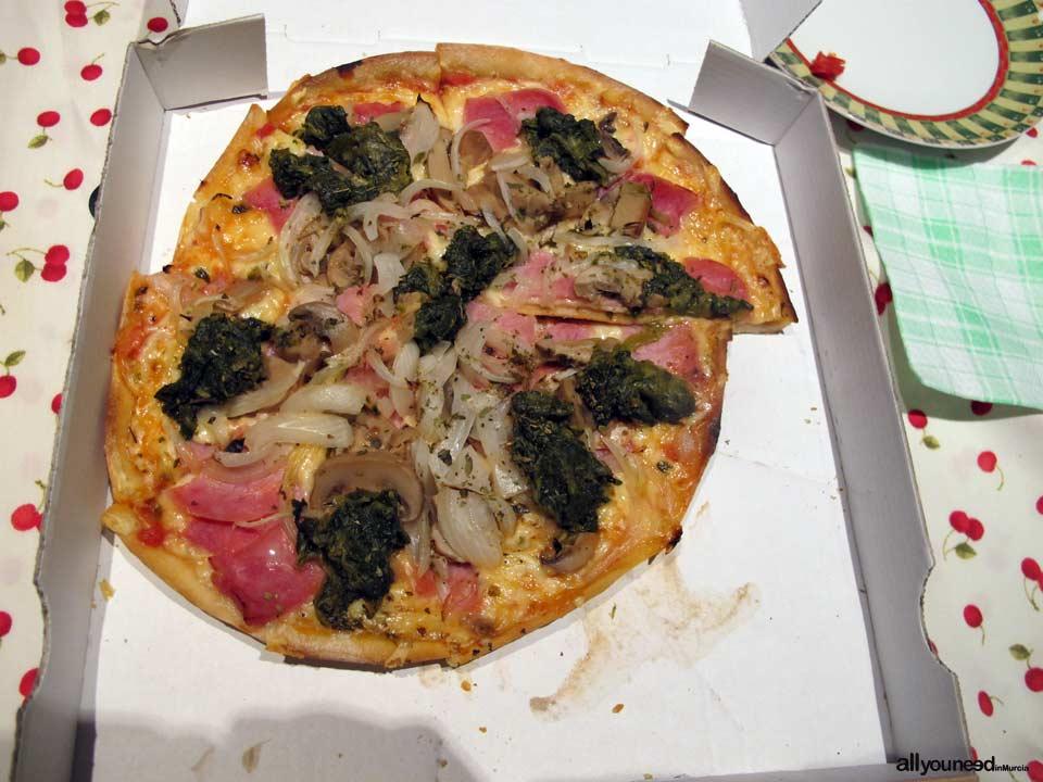 Pizzeria Alemana en Murcia. Pizza en la casa