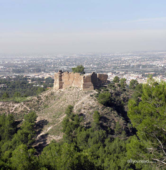 Castillo de La Luz. Sierra de la Cresta del Gallo. Castillos de Murcia