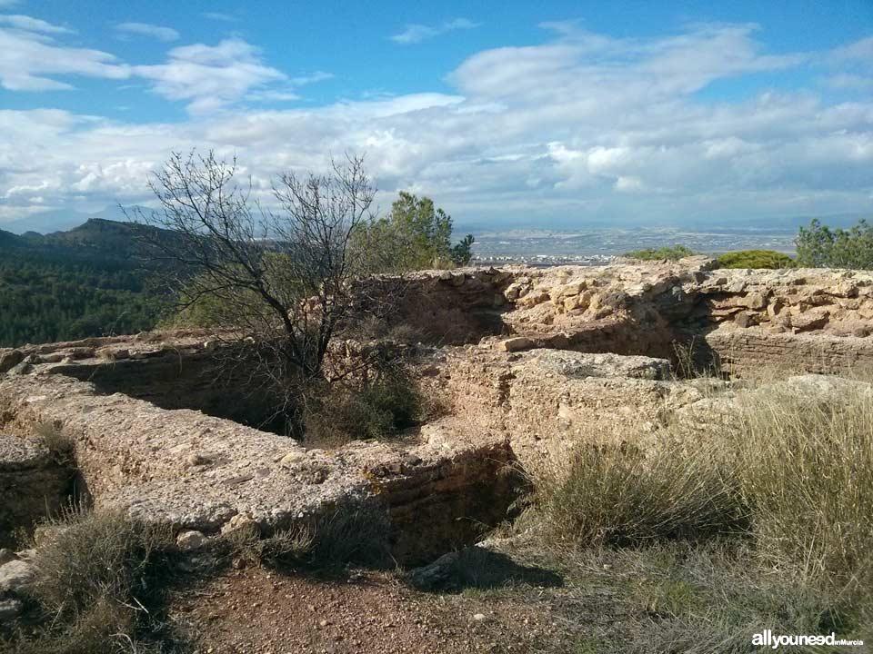 Castillo del Portazgo. Parte alta. Puerto de la Cadena. | Castillos de Murcia