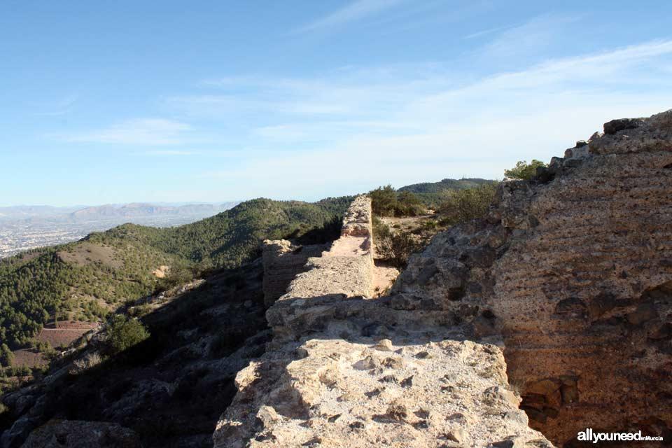 Castillo de la Asomada. Puerto de la Cadena. | Castillos de Murcia