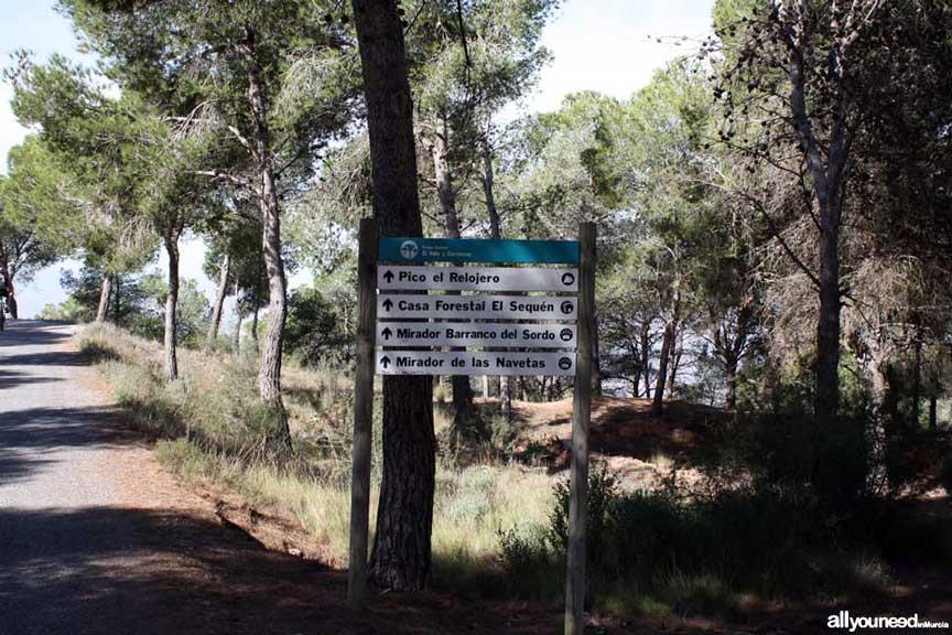 Cresta del Gallo-Pico del Relojero route. Trailhead