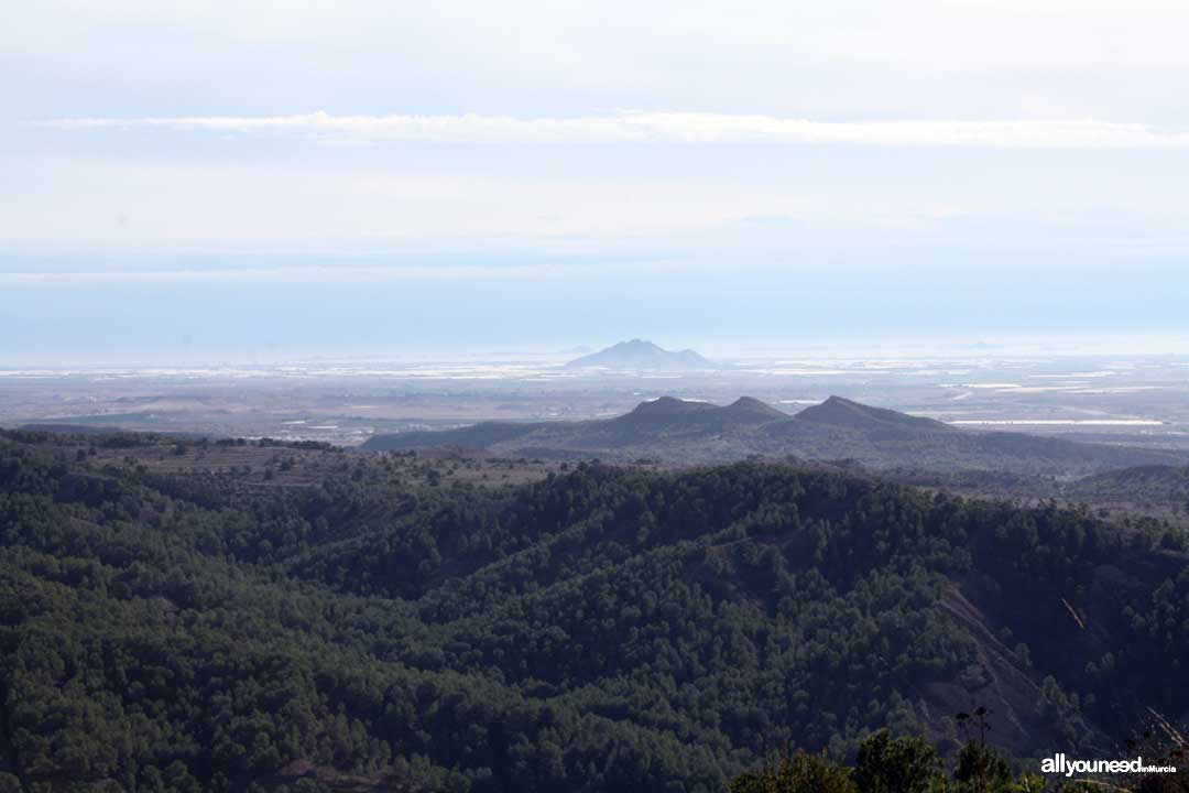 Views from Asomada Castle. Cabezo Gordo in the background