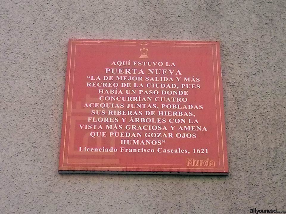 Calle Santo Cristo. University of Murcia. Cool stuff in Murcia. Metal Plates Describing Historical Events