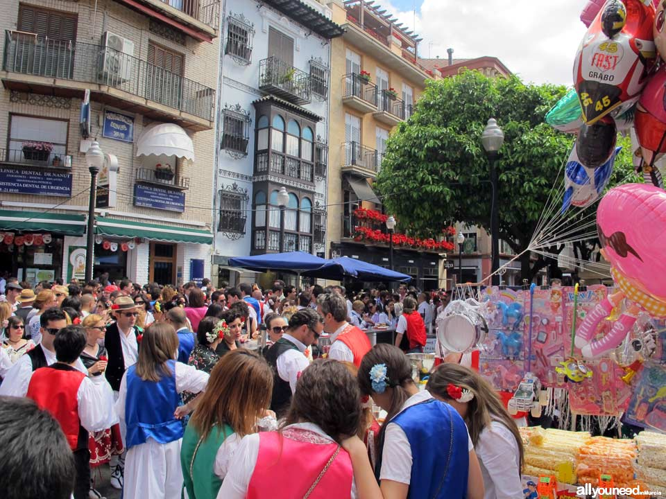 Plaza de las Flores en Murcia. Fiestas de Primavera