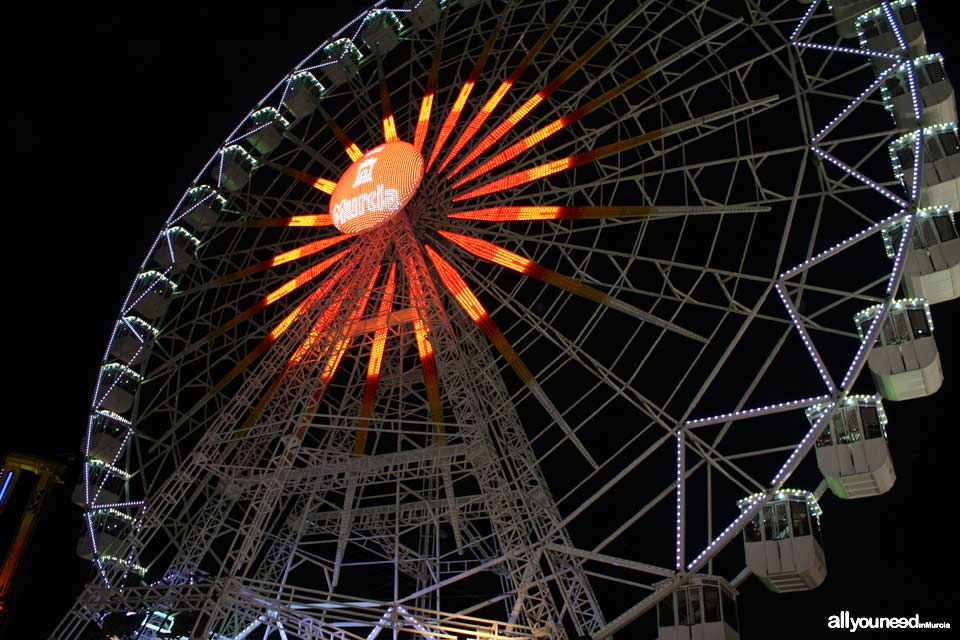 Murcia's September Fair. Amusement park