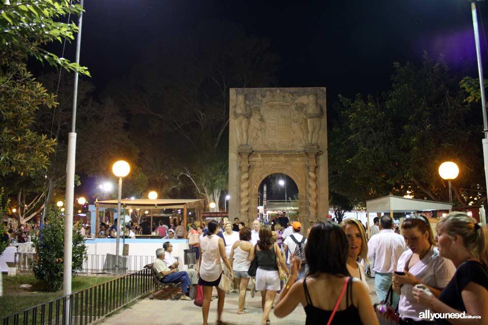 Jardín del Malecón en Murcia Feria de Septiembre