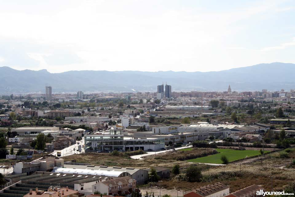 Monteagudo Castle. Murcia. Panoramic views of Murcia