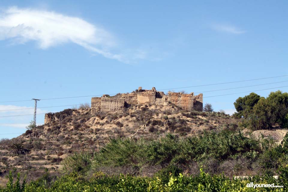 Guide of Castles in Murcia. Small Monteagudo Castle. Spain