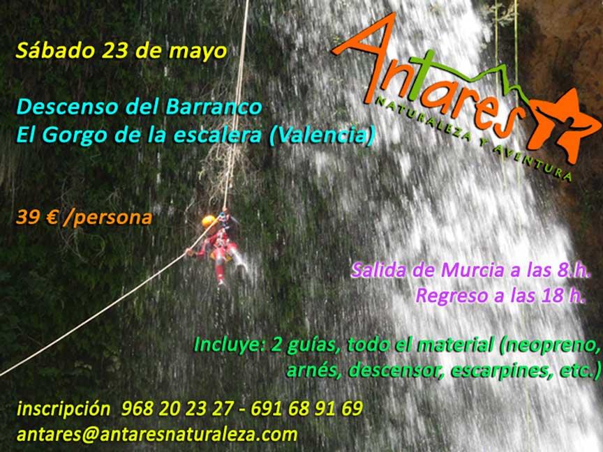 Descenso del Barranco el Gorgo de la Escalera