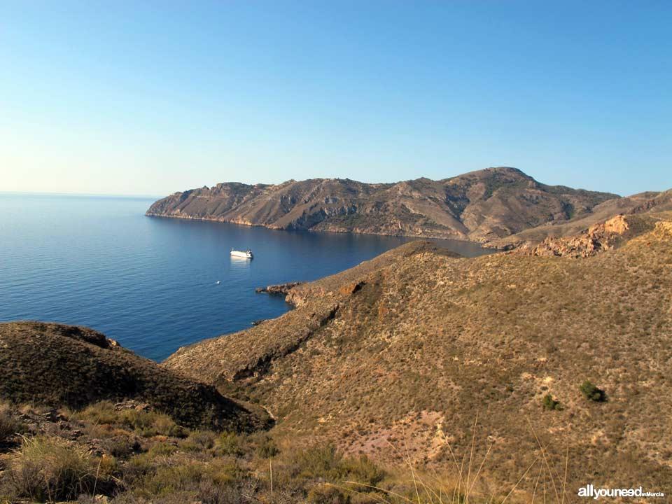 Ruta Calas el Bolete Grande, Boletes y Aguilar. Vistas Cabo Tiñoso