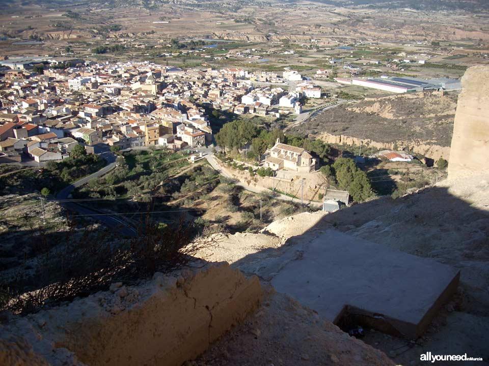 Castillo de Pliego. Castillos de Murcia. Vistas de Pliego
