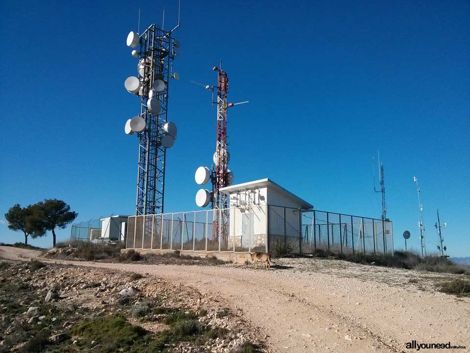 Pliego Castle and Cairel Route. PR-MU77. Antennas