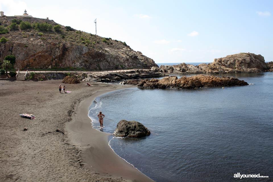 Playa del Lastre en Portman. La Unión