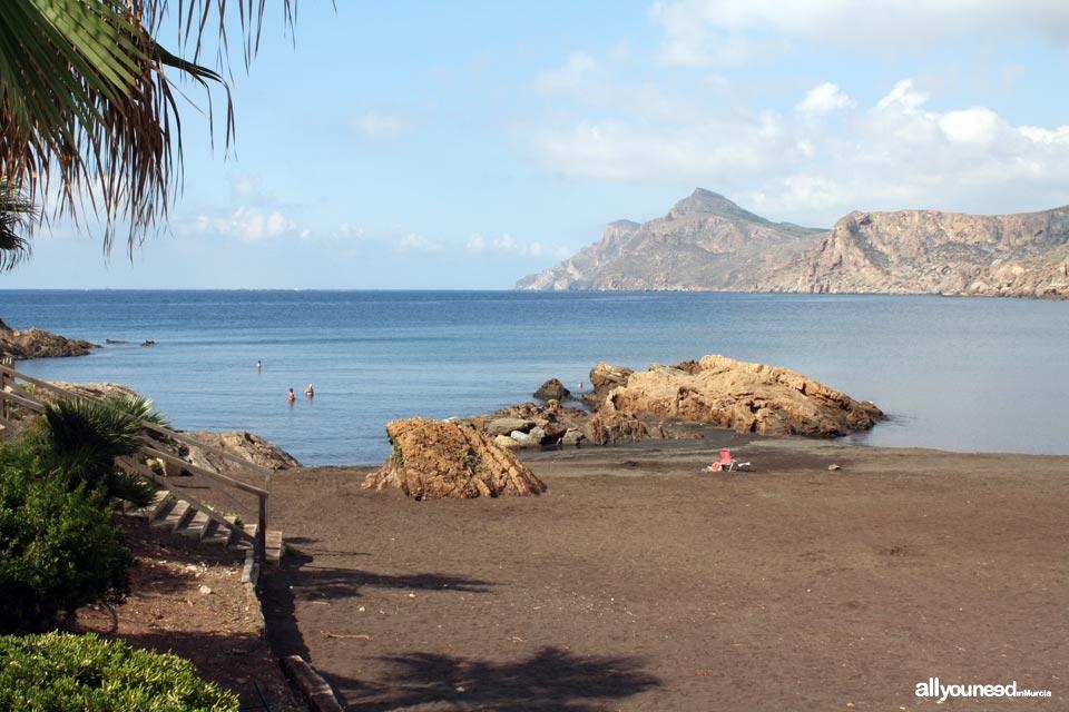 Playas de Murcia. Playa del Lastre en Portman. La Unión