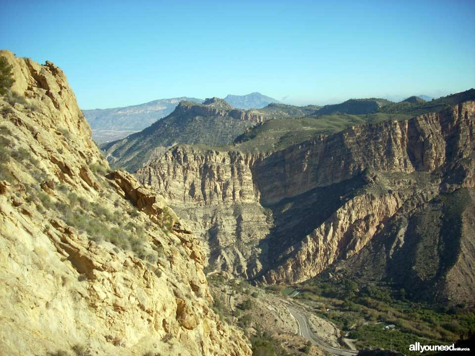 Ricote Castle. Peñascales castle. El Solvente peak