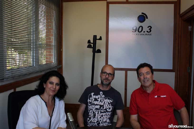 Allyouneed In Murcia en Radio San Javier. Rincones de nuestra tierra