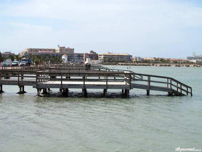Sendero de Las Encañizada. Playa de la Mota. Baños de Lodo