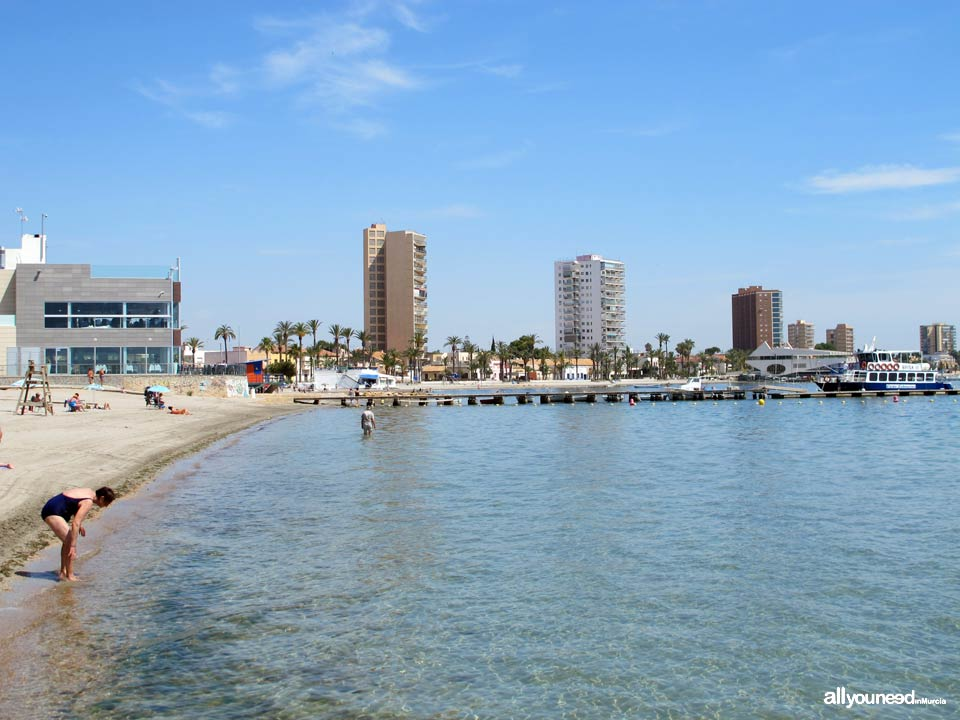 Beaches in Murcia. Barnuevo Beach in Santiago de la Ribera. San Javier