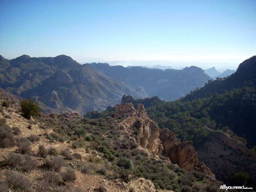 Valle de Ricote. Vistas castillo de Ricote