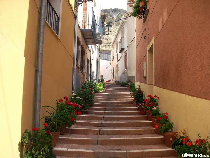 Valle de Ricote. Calle en Ulea