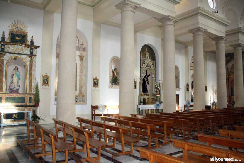 Our Lady of Assumption Church in Villanueva del río Segura -Murcia-