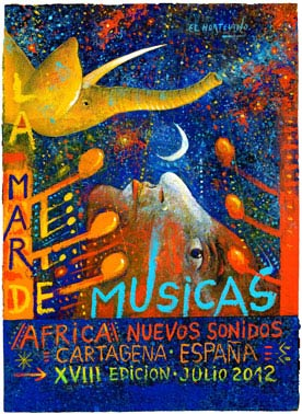 Cartel oficial La Mar de Musicas 2012