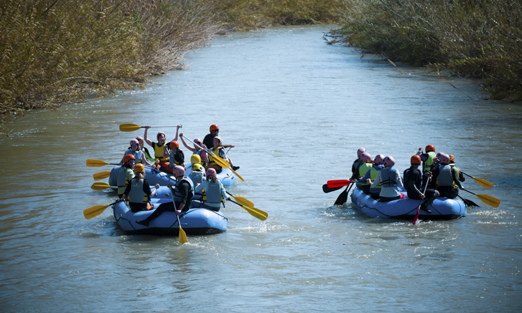 Active Tourism and Adventure in Murcia. Rafting along Segura River