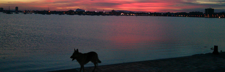 Mar Menor atardecer