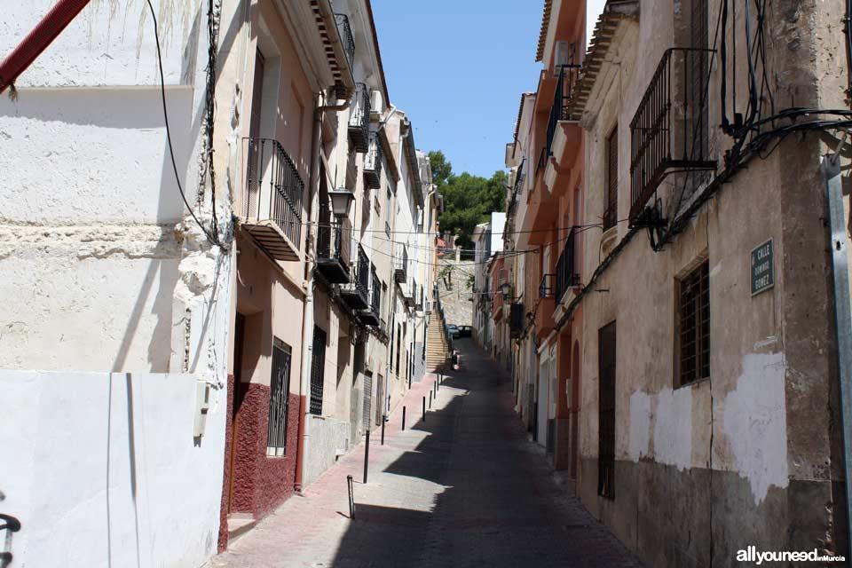 Calle Domingo Gómez en Abarán
