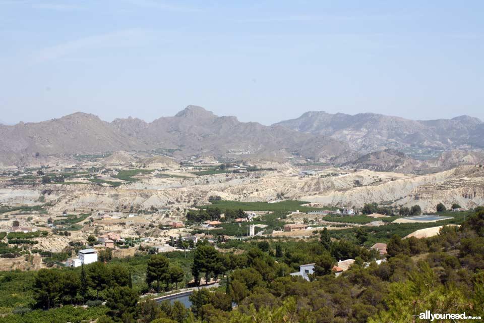 Vista desde El Santuario Virgen del Oro de Abarán